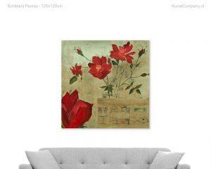 schilderij peonia