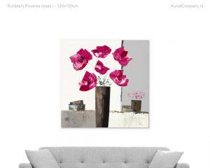 schilderij pivoines roses i