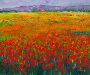 schilderij poppy field ii