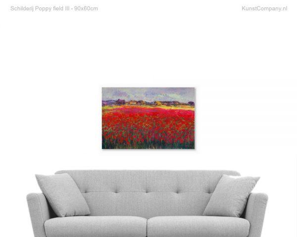 schilderij poppy field iii