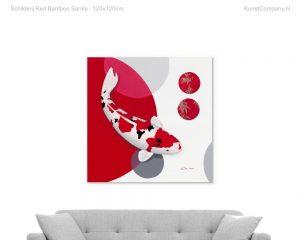 schilderij red bamboo sanke