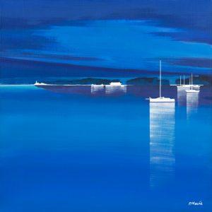 schilderij regate bleue