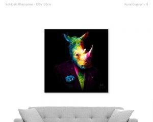 schilderij rhinoceros