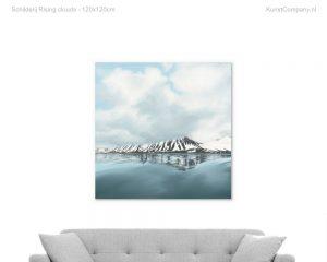schilderij rising clouds