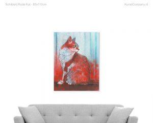 schilderij rode kat