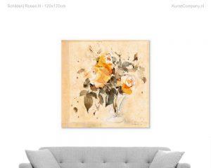 schilderij roses iii