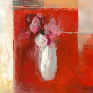schilderij roses rouges