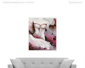 schilderij sensibilite feminine i