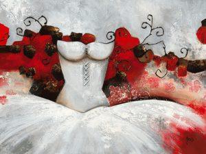 schilderij sensibilite feminine ii