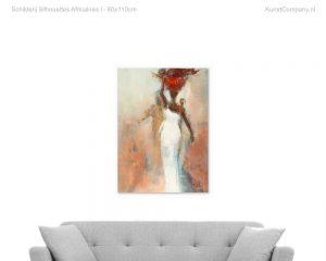 schilderij silhouettes africaines i