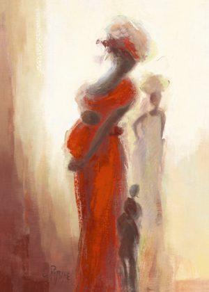 schilderij silhouettes africaines iii