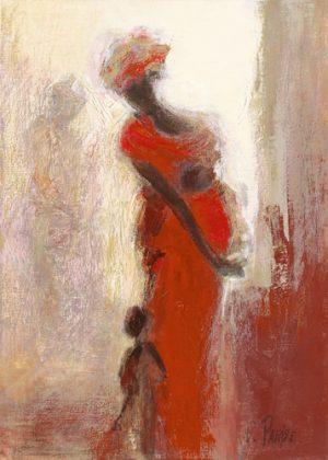 schilderij silhouettes africaines iv