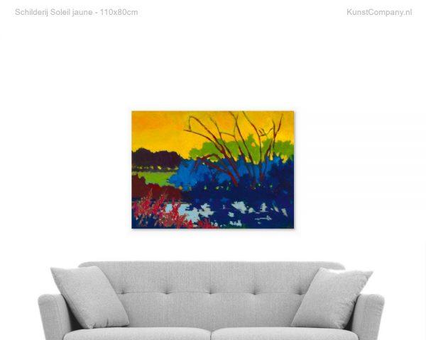 schilderij soleil jaune