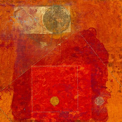 schilderij squares with circles