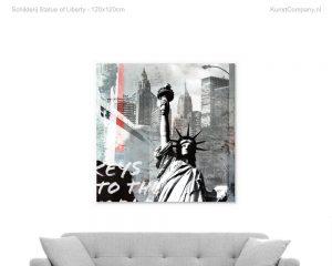 schilderij statue of liberty