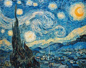 schilderij sterrennacht