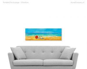 schilderij sur la plage