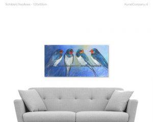 schilderij swallows