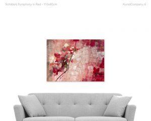 schilderij symphony in red