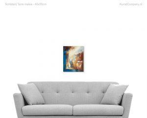 schilderij terre melee