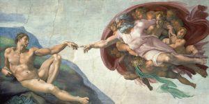 schilderij the creation of adam
