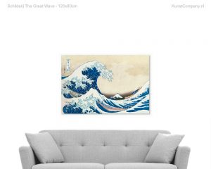 schilderij the great wave