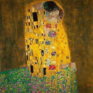 schilderij the kiss