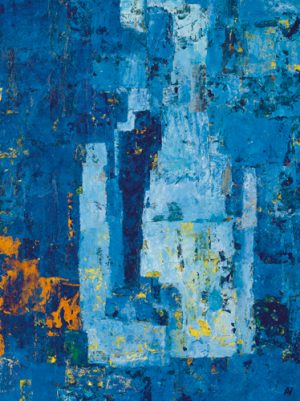 schilderij the river taught me to listen