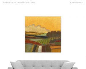 schilderij the sun comes up