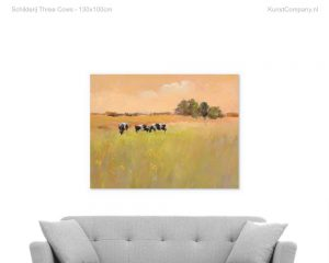 schilderij three cows