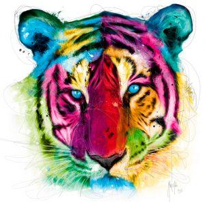 schilderij tiger pop