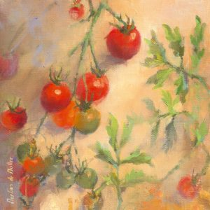 schilderij tomates cerises i