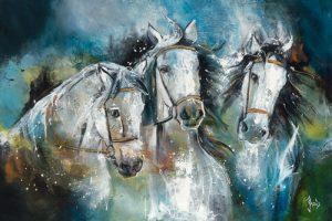 schilderij trio