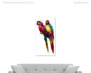 schilderij tropical colors ii