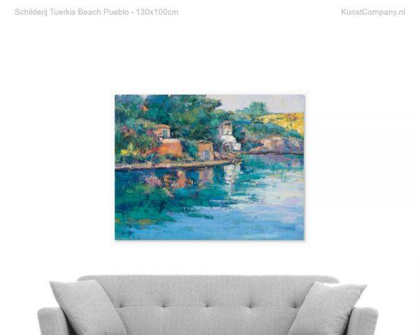 schilderij tuerkis beach pueblo