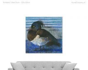 schilderij tufted duck