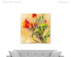 schilderij tulipes