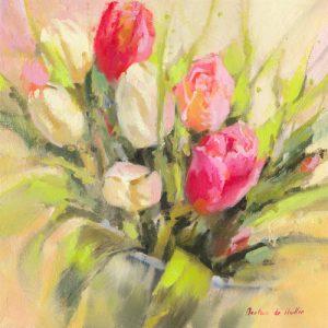 schilderij tulipes en abondance