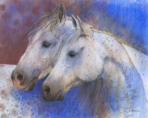 schilderij two horses