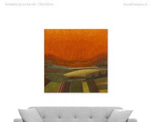 schilderij up on the hill