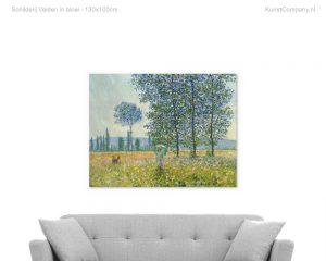 schilderij velden in bloei
