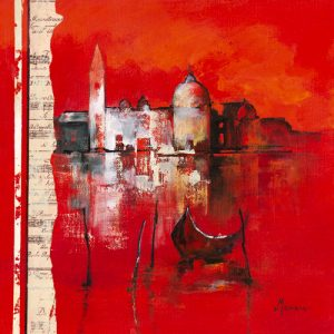 schilderij venise reflets