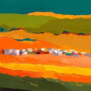schilderij vert mandarine