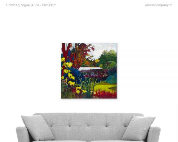 schilderij vigne jaune
