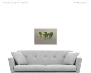 schilderij vijf appels