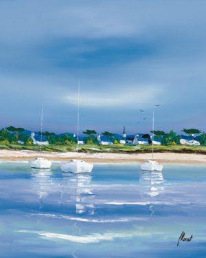 schilderij village breton