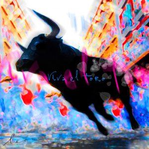 schilderij viva el toro