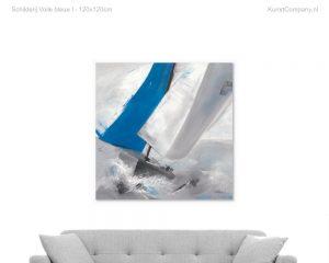 schilderij voile bleue i