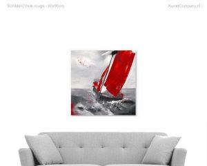 schilderij voile rouge