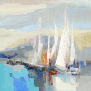 schilderij voiles blanches ii
